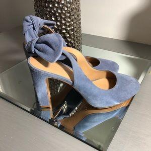 Banana Republic Shoes  Blue Suede Shows W Bowtie  